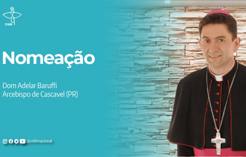 Papa Francisco nomeia Dom Adelar Baruffi como Arcebispo de Cascavel(PR)