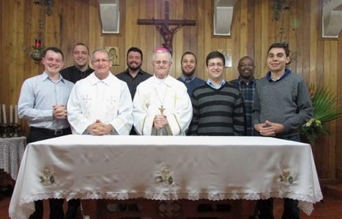 Bispo Dom Aloísio faz visita Pastoral ao Seminário Dom Alberto