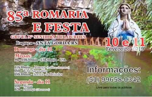 Itapuca convida para Festa da Gruta