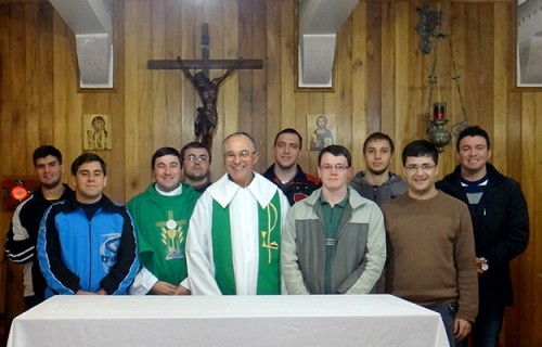 Formação com o Padre Lucas Del Osbel no Seminário Dom Alberto